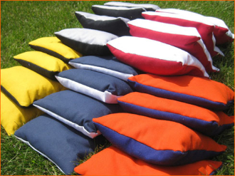 8 all weather regulation cornhole bags - 2 toned