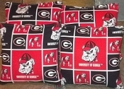 Set of 4 all weather bags made from Collegiate fabric